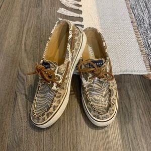 Sperry Top Sider Animal Print Sequin Boat shoes